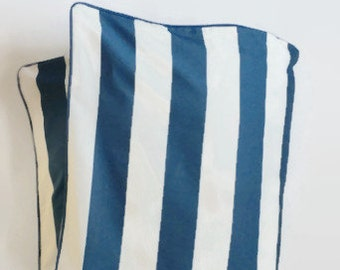Large Stripe in Navy Toddler Duvet - Navy and White Stripe - Nautical Duvet - Modern Baby - Preppy Baby