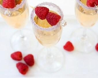 Colored sugar for martinis - Pastel Purple cocktail rimming sugar - purple lavender martini sugar, margarita sugar rim, wedding drinks