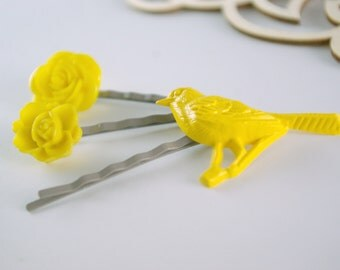Yellow Fellow Bobby Pin Trio