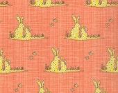 BLUEBIRD PARK Bunnies in Tangerine 13105-15 - Kate and Birdie Paper Company for Moda Fabrics - 1 Yard