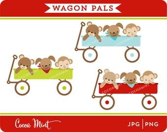Wagon Pals Clip Art