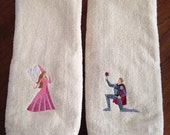 Prince and Princess Bathroom Hand Towel Set