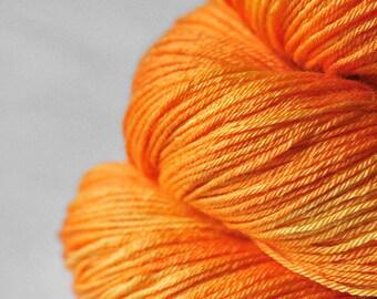 Burning orange - Merino/Silk Fingering Yarn Superwash