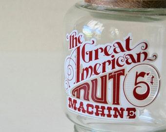 Vintage Nut Machine glass Jar,General Store