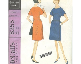 McCalls 8255 1960s Designer Dress Larry Aldrich