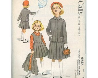 McCalls 4246 Little Girls 50s Era Jacket & Jumper