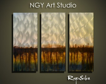"""NGY 23.5"""" x 32"""" Modern Contemporary Abstract Metal Wall Sculpture Art"""