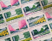 Set of 8 Plant for a More Beautiful America stamp. 6c unused postage stamp from 1969