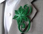 Emerald Green Boutonniere, Emerald Buttonhole, Green Wedding Gifts for Groomsmen, Emerald Wedding Boutonniere, Mens Flower Boutonniere