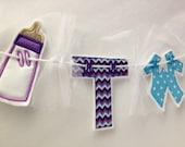 Twins Baby Shower Banner, Baby Shower Decorations, Embroidered Baby Shower Banner, Twins Baby Bunting