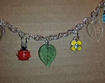 7.5 inch Ladybug leaf spring Bracelet