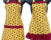 Mother and Daughter Matching set  Lady Bugs  aprons kids size 4-6-8