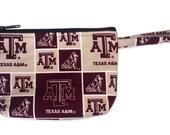 Texas A&M Makeup Bag // Aggies // NCAA