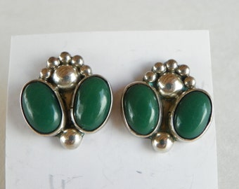 Vintage Mexican Sterling Silver Earrings