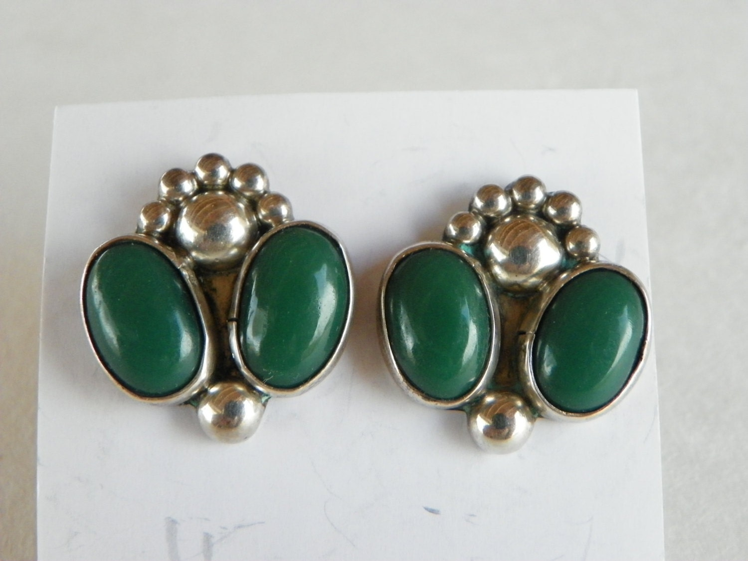 Vintage Mexican Silver Earrings 80