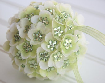 Floral Pomander Ball Ornament/Green - Blossom Bliss
