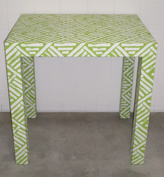 Parson's Style Desk - Custom Built and UPholstered - Design Your Own In ANY Fabric