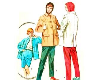 Vintage 1950s Hoodie Jacket Pattern Uncut Bust 34 Size 14 Shorts Pants McCalls 3844