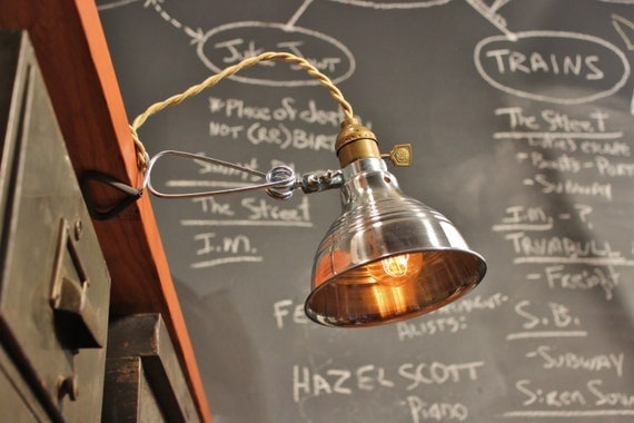 Vintage industrial clamp lamp wall or shelf mount task light like this item publicscrutiny Image collections