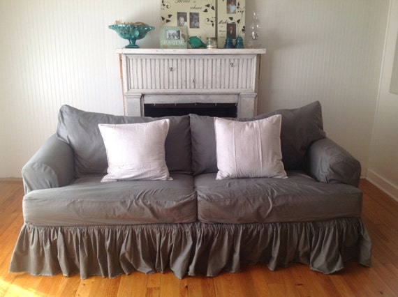 items similar to sofa slipcover on etsy. Black Bedroom Furniture Sets. Home Design Ideas