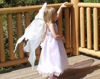 Tinkerbell Gossamer White Opal Fairy Wings Faerie Queen Halloween costume dress up adult s Child l angel celtic goddess cosplay larp psy elf