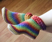 CROCHET PATTERN: Knit-Look Braid Stitch Boots (Adult Sizes) - Permission to Sell Finished Product