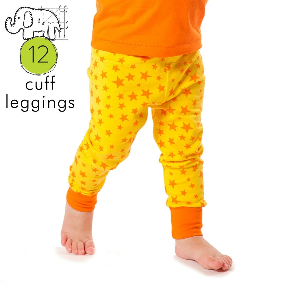 Baby leggings pdf pattern with cuffs // photo tutorial