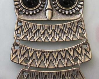 Tibetan Style Alloy Metal Owl Pendant Necklace Chain 640mm x 88mm  T2490