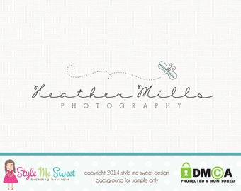 dragonfly logo premade logo design photography logo graphic design photographers logo watermark logo branding logo nature logo design