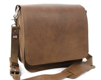 "10"" Brown Brooklyn Mission iPad Tablet Bag"