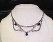 Vintage Rhinestone Bridal Necklace