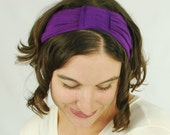 Headband - Hairband - Eco Friendly - Flapper Accessories - Plum Purple - Costume - Organic Clothing