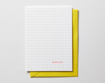 Thank you, folded letterpress note card