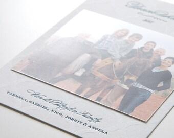 Bonne Année, custom letterpress holiday cards, set of 50