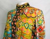 Vintage Suzy Perette Pop Art Floral Dress - Mid Century