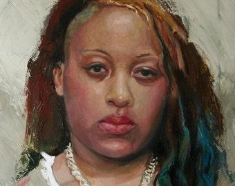 Original art Oil Painting African American Portrait