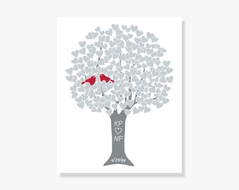 25th Anniversary Gift - Personalized Silver Wedding Print
