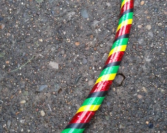 Red, Yellow and Green Rasta Adult Hula Hoop