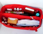 Diaper Bag organizer insert - Extra Large Purse organizer for Louis Vuitton Neverful GM in RED fabric