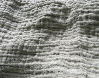 Linen vintage fabric --Natural and black  color-- fine textile--home decor--perfect drape