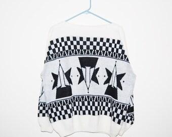 Vintage Sweater Galactic  Hipster Big Bang