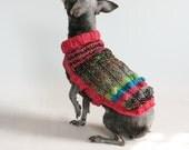 Bobble Butt, Rosy Pink, Chihuahua Sweater, size XS