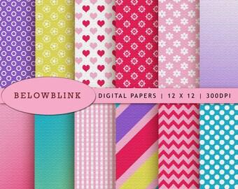 Doc McStuffins Digital Paper Pack, Scrapbook Papers, 12 jpg files 12 x 12 - Instant Download - DP251