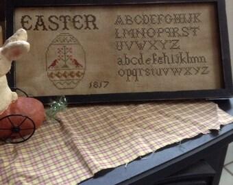 Primitive Easter 1817 Sampler
