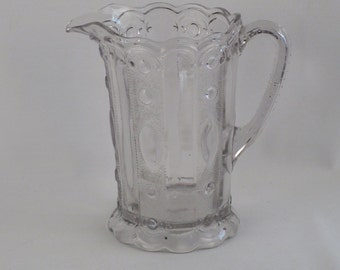Victorian Style Glass Pitcher
