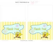 "PRINTABLE (Thank You Cards) - SpongeBob ""Best Day Ever"" Collection"