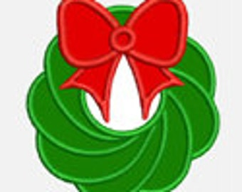 Christmas Wreath...Embroidery Applique Design...Three sizes for multiple hoops...Item1571...INSTANT DOWNLOAD