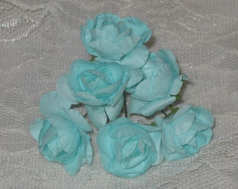 36 Paper Flowers Vintage Style Millinery Mulberry Paper Flowers ECS
