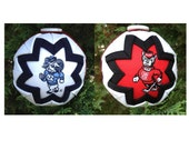"The ""House Divided"" University of North Carolina Tarheels/NC State Wolfpack Collegiate Christmas Ornament"