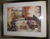 Cottage Scene - Signed Watercolor Painting - Ruiz